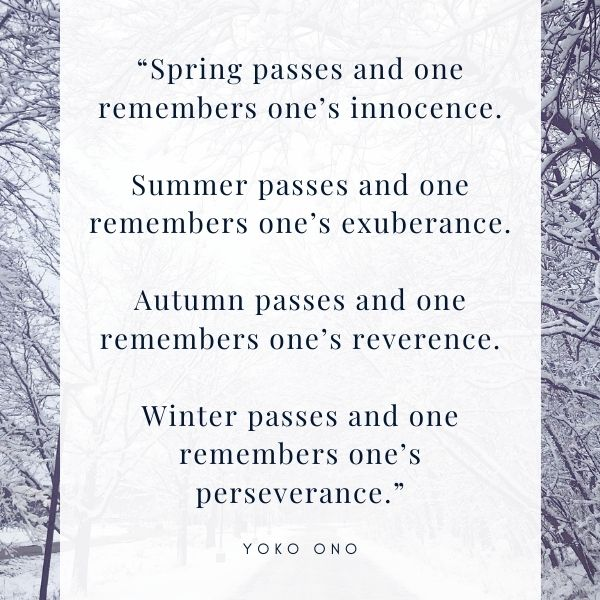 Winter Quote on trees with snow image